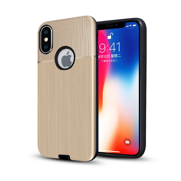 909d36f34e Customized Cloth Texture Mobile Case for iPhoneX,Hybrid PC+TPU Back Cover  Phone Case for iPhone X,For iPhone XR XS Max Case