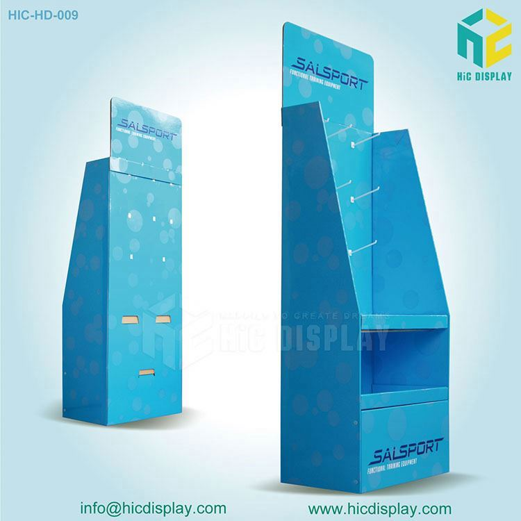 HIC decoration display rack, pos reail dvd corrugated display
