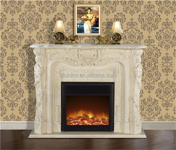 Elegant Rococo Style Mantelpiece Fireplace Hand Carved