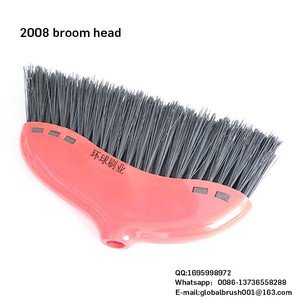 HQ2008 big size plastic garden cleaning broom heavy duty broom stick