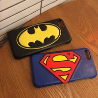 High Quality Creative Cartoon Spiderman Superman Leather Mobile Phone Case For iphone X 8 8plus 7 7plus 6 6plus 6s