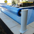 Polycarbonate slats automatic swimming rigid pool cover