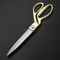 Gold Stainless Steel Dresssmaking Sewing Scissors for Crafting and Tailoring