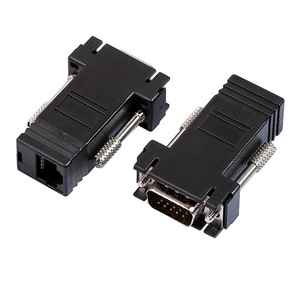 VGA Extender Female/Male to Lan Cat5 Cat5e/6 RJ45 Ethernet Female Adapter Male to Female VGA to RJ45 Converter Connector