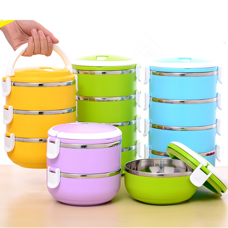best selling products Fancy 2,3 ,4 Layers Stainless Steel lunch box keep food hot for school