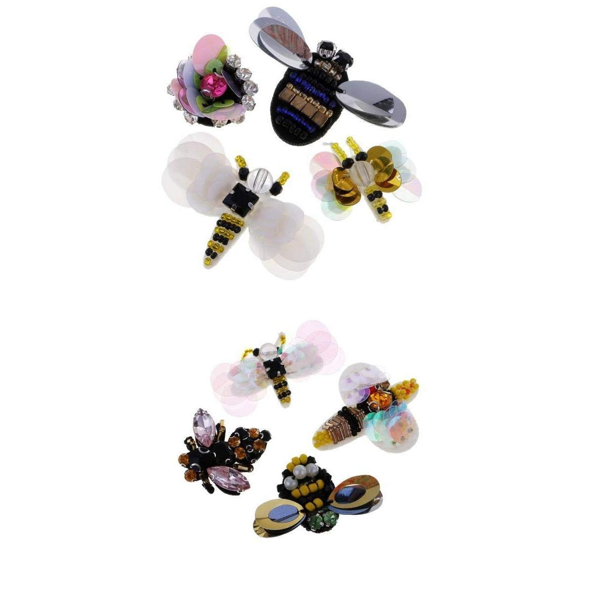 Tiny Wooden Bee Embellishments Painted Flatback Wood Bumble Bee Pieces With Adhesive And Velvet Bag For Craft Decoration Scrapbooking Diy Made Of Wood Firm Lightweight 150 Pieces