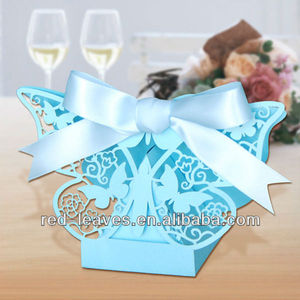 Paper laser cut favor boxes butterfly design for your wedding candy small gift cake packing box