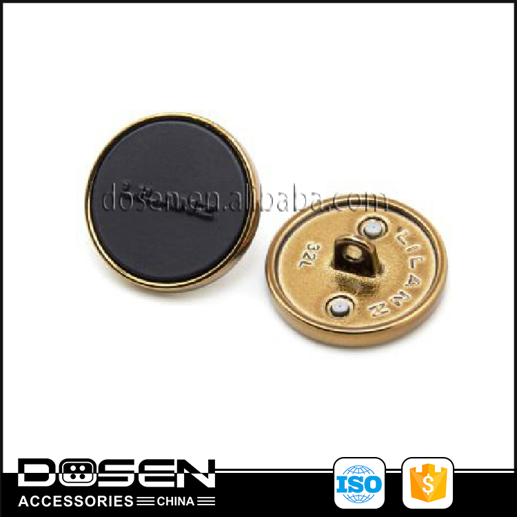 Carved Custom Logo Mens Suit Sewing Button Fashionable Metal Buttons Black Gold Silver For Coat Shirt Clothing Jacket Overcoat