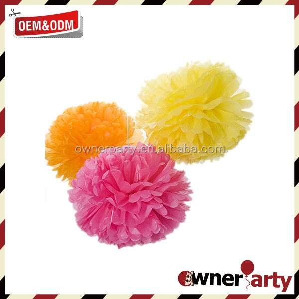 Halloween Decoration Promotional Baby Shower Paper Flower Pom Pom