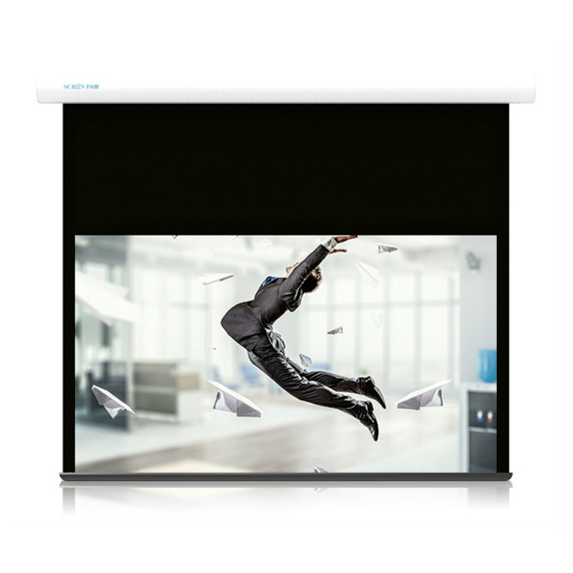 projector and screen 120 inch 16:9 Portable Electric Projection Screen Customizable Glass Bead Matt White Fabric