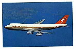 QANTAS Airlines Boeing 747B in Flight Postcard