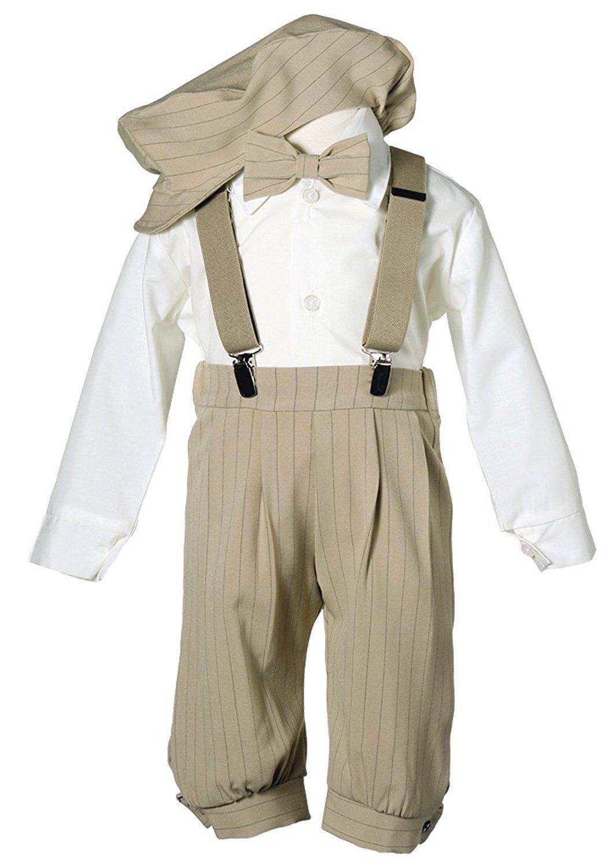 Toddler Boys Knickers Vintage Outfit White//Black,12 Mon,18 Mon,24 Mon,2T,3T,4T