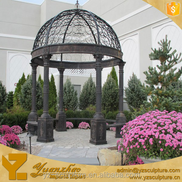 outdoor hand casting iron gazebo from factory