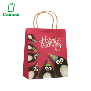 Wholesale Custom Design Print Gift Mini Kraft Paper Bags With Twisted Handles