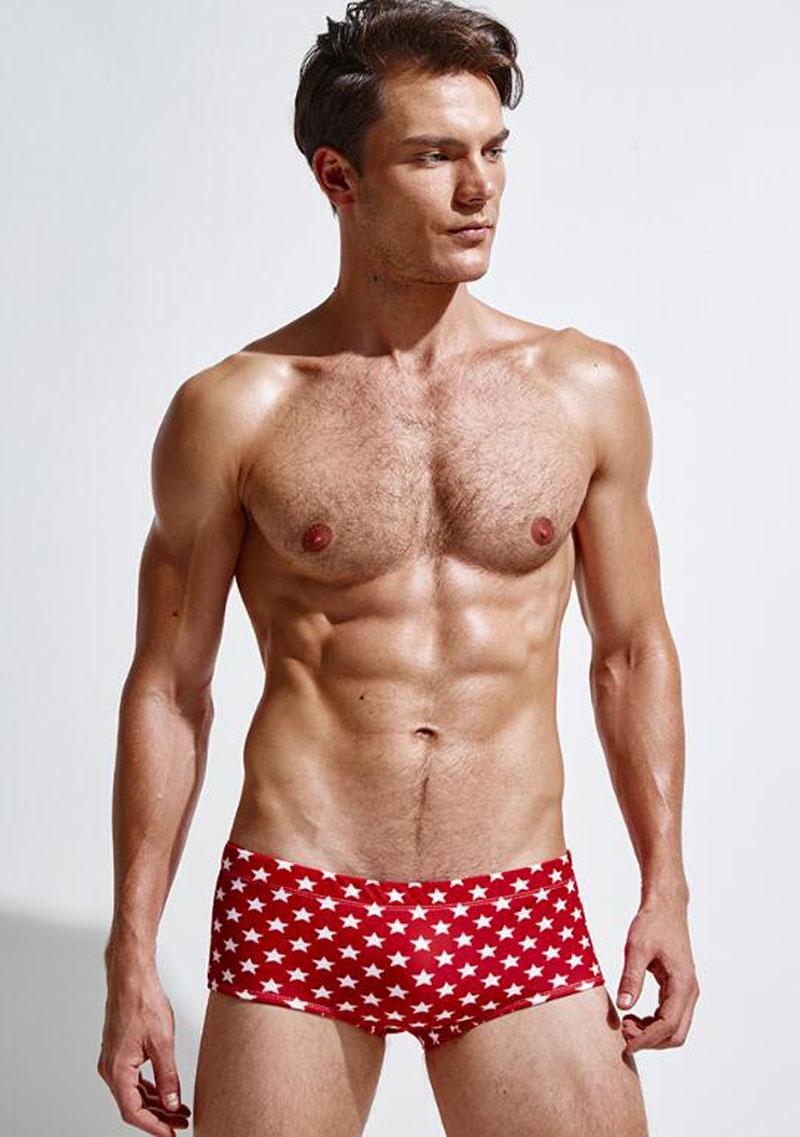 9af1751ec78 2018 New Star Print Men's Swimwear Sexy Men's Swimming Trunks For ...