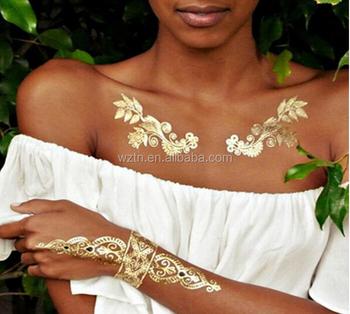 Body Art Tattoos Metallic Jewelry Henna Tattoo Sticker Buy Body