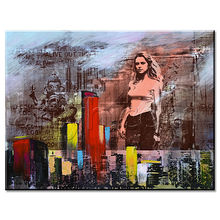 Original New Wall Art For Wholesaler of hot open sexy lady with cityscape