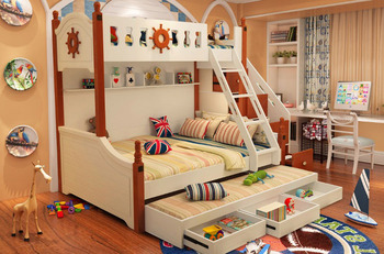 Latest Wooden Kids Bunk Bed With Slide Buy Kids Bunk Bedwith