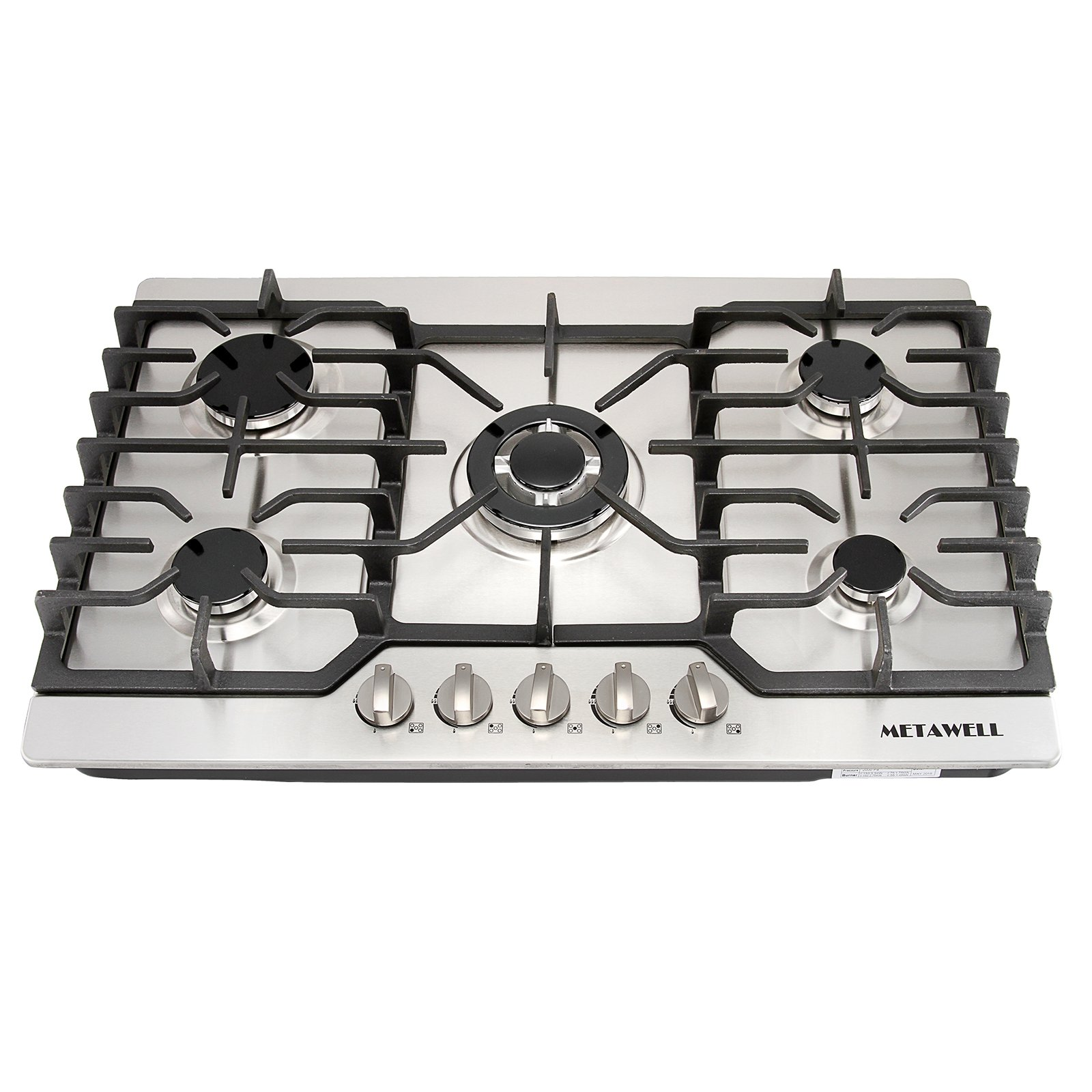 Get Quotations Metawell 30 Stainless Steel Gold Burner Built In 5 Stoves Natural Gas Cooktops Cooker