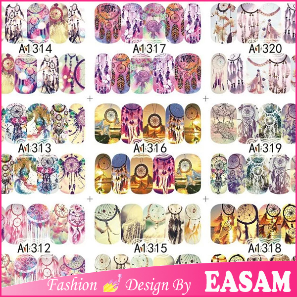 2016 nail art sticker/ water transfer 2d nail art decal/fashion design nail art