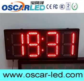 Multifunctional wall clock time zones Oscarled with CE certificate