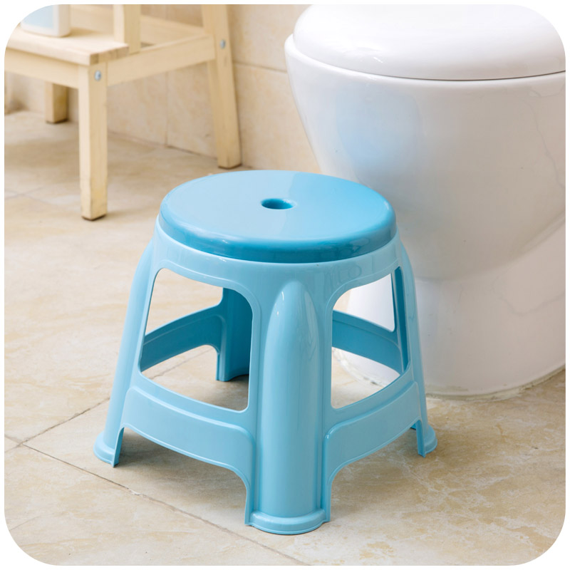 Enjoyable Thick Plastic Small Round Stools Home Adult Children Bathroom Stool Changing His Shoes Stool Ncnpc Chair Design For Home Ncnpcorg
