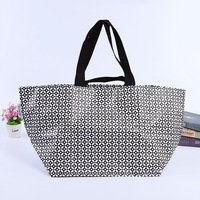 Promotional eco friendly Customized color logo printing Laminated PP Tote Woven Shopping Bag for cheap price