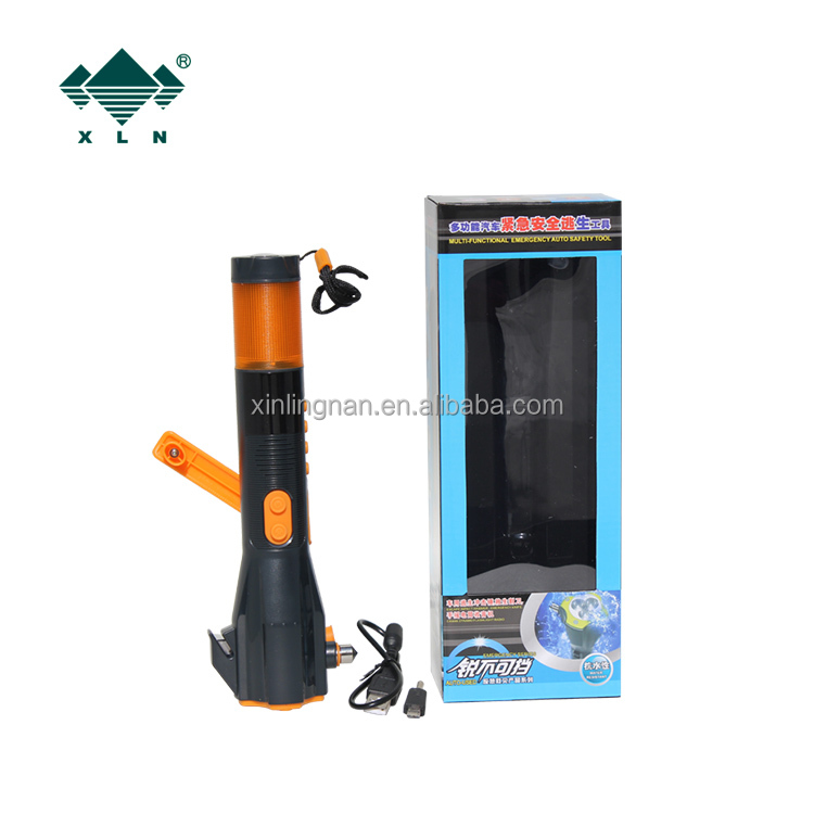 radio hand cran flashlight charger am fm portable radio/ cranking power bank and compass for outdoor sports