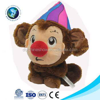 Cute Clown Plush Monkey Stuffed Animal Toy Buy Clown Plush