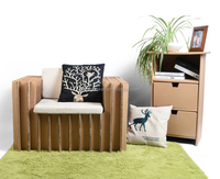 Double cardboard sofa for living room furniture