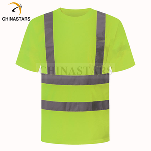 Short Sleeve High Visibility Safety Work Reflective Orange Yellow T Shirts