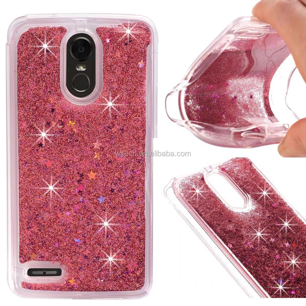 Free Sample Glitter Stars Quicksand Hard PC+TPU Case Phone Cover For LG Stylo 3/ Stylo 3 Plus 2017/ LS777 case