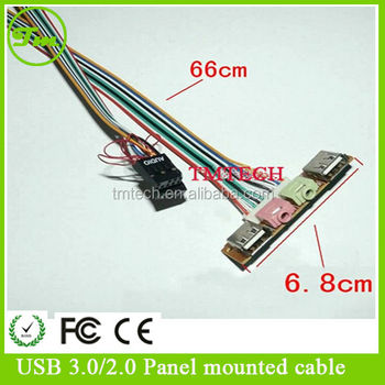 Usb A Audio Output Front Panel Lead Cable For Pc Computer ...