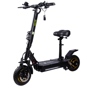 10 Inch 48V 800W Dual Motor Folding Electric E-scooter With Seat With 1000W 2000W Available