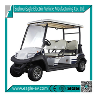 CE approved China made aluminum chassis 4 seat battery powered electric golf car