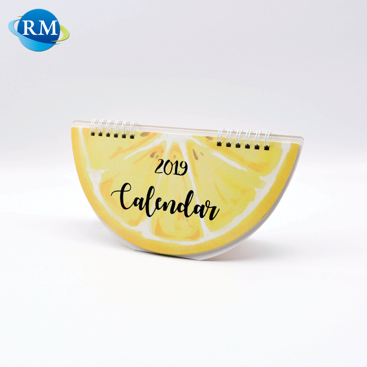 Personalised 2019 Office Foldable Semicircle Tabletop Calendar