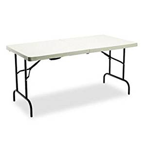 get quotations iceberg indestruc tables too 1200 series bi fold table tablebifold