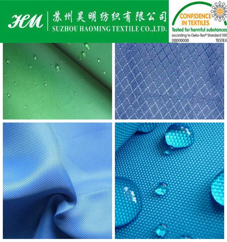 210D RPET poly fabric with pu coated for shopping bag