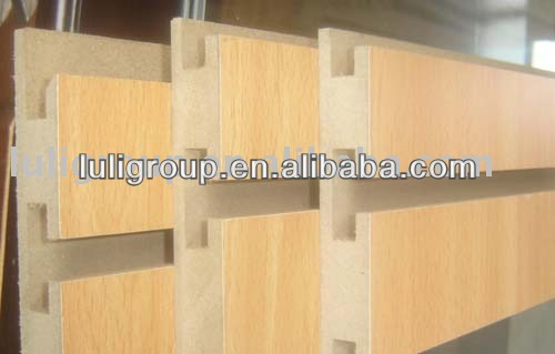 1220*2440*18mm grooved mdf for displaying