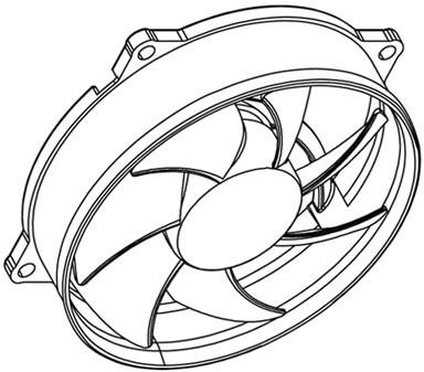 Coolcox 92x92x25mm Pwm Axial Fan Cc9225m12sr Pwm12v Dc Cpu Cooler