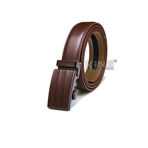 New style brown premium genuine leather belts for men adjustable buckle