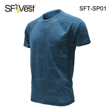 100% polyester t shirt fiber Seamless Go Dry Performance Tee for Men's Gym Fitness t-shirt no side seam dry fit sport tshirt