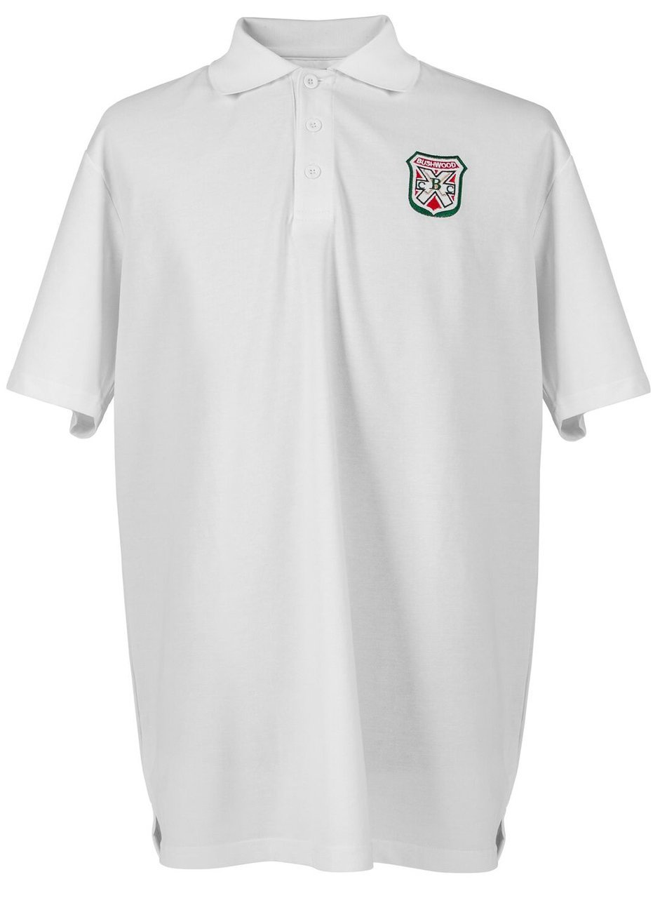 e70d5ef125694 Caddyshack Embroidered Bushwood Country Club Crest Polo - White by  ReadyGOLF 2XL