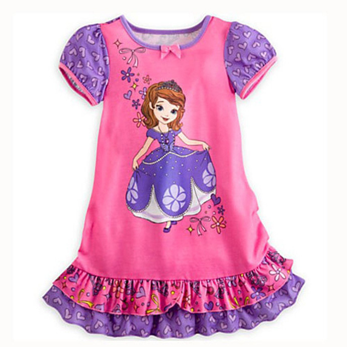 girls summer dresses Adorable cartoon kids girl dresses hot sale children clothing imported girls dresses robe