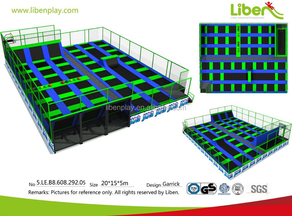 5.LE.B8.609.171.01 dodgeball ninja course large commercial indoor trampoline hot indoor trampoline