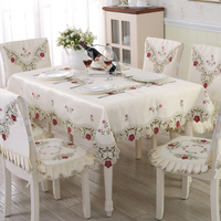 European tablecloth fabric coffee table cloth tablecloth set