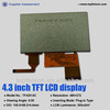WQVGA 4.3 inch TLCD screen module with capacitive touch panel (480*272) for PSP and GPS---TF43014C