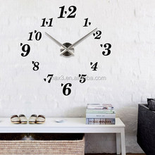 2017 Gold black silver wall clock sticker new design art clock with young town quartz clock for home decor