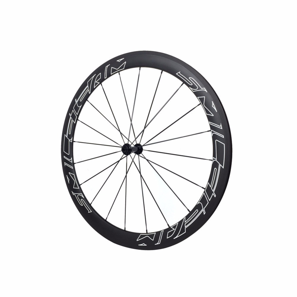Smileteam Full Carbon Bike Wheels 700c Road Bicycle Clincher Carbon Wheel 50mm Carbon Clincher Wheelsets