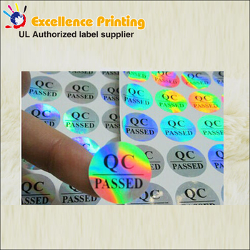 Customized make holographic foil stickers